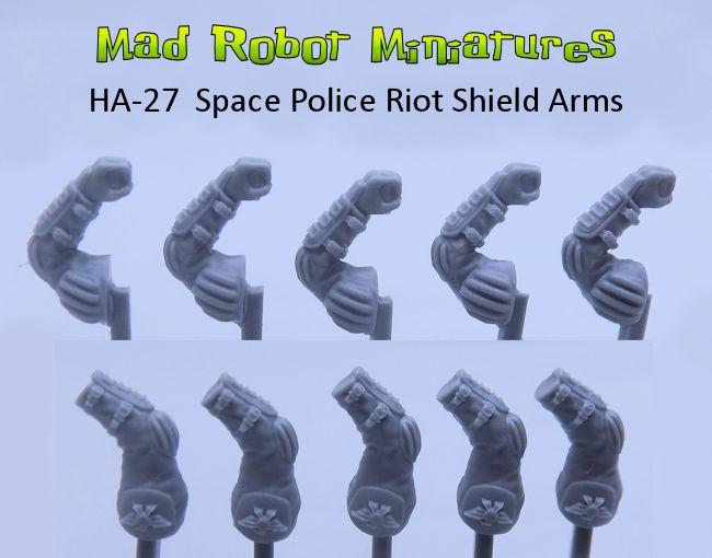 Space Police Riot Shield Arms