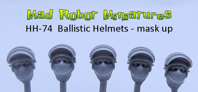 Ballistic Helmets - mask up